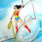 Old Wonder Woman on Invisible Jet