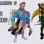 Conan O'Brien's Flaming C on Young Justice?