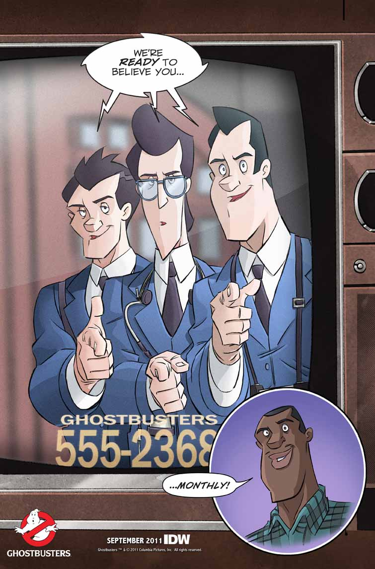 Ghostbusters Comic going Monthly, More Animated Series Thoughts