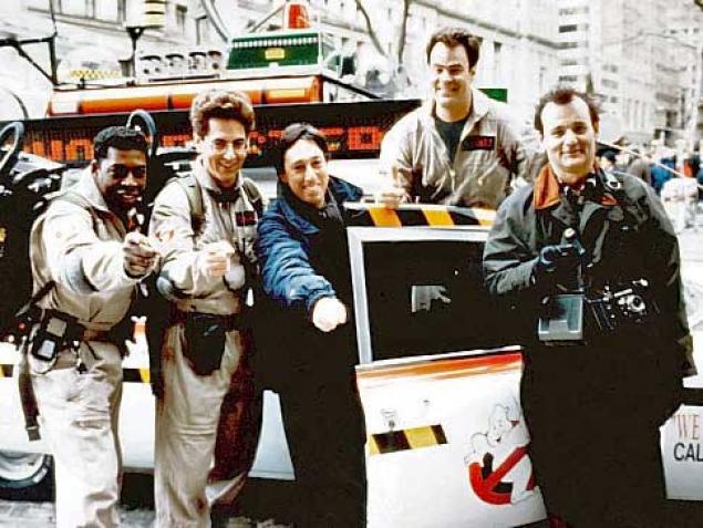 Dan Aykroyd, Bill Murray, Ernie Hudson and Ivan Reitman pay respects to Harold Ramis