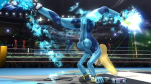 Zero Suit Samus attacks in Super Smash Bros.